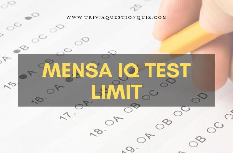 Mensa IQ Test Limit