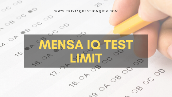 Mensa IQ Test Limit
