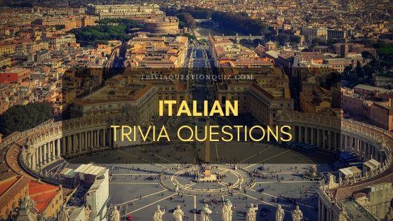italian trivia questions