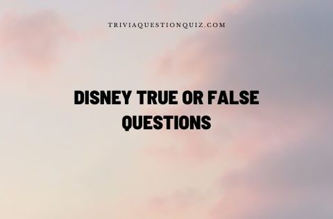 disney true or false questions