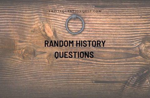 random history questions