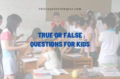 true or false questions for kids
