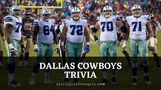 Dallas Cowboys Trivia