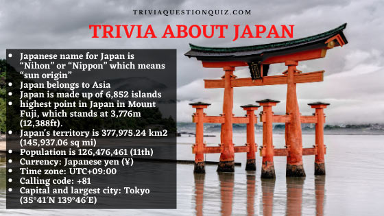 trivia about japan
